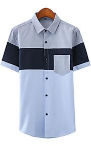 Skjorte Herre - Fargeblokk Blå XXXL