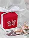 cutie favoarea roșu cu laser de tăiere fluture (set de 12)