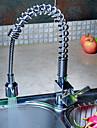 Armatur fuer die Kueche - Einhand Ein Loch Chrom Pull-out / Pull-down 3-Loch-Armatur Moderne Kitchen Taps