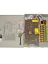 Alimentation 9-Channel 12V DC 10A Regulated pour la securite Systemes 23.5*20.5*5cm 1.2kg