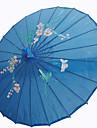 """Mătase Ventilatoare și umbrele de soare Piece / Set Umbrele de soare Temă Grădină Temă Asiatică Albastru19""""înălțime x 32 1/3"""" în"""