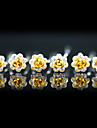 Headpieces Wedding Head Pins 6 pieces Gorgeous Rhinestones / Flowers More Colors Available