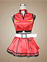 Inspirat de Vocaloid Meiko Video Joc Costume Cosplay Costume Cosplay / Rochii Peteci Roșu Fără mâneciGeacă / Fustă / Colier / Mănuși /