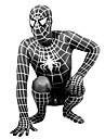 Zentai Dräkter Superhjältar Spindlar Film- och TV-kostymer Zentai Cosplay-kostymer Svart Tryck Lappverk Trikå/Onesie Zentai Lycra Unisex