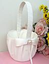 """Coș de Flori Culoarea Lemnului Satin Organza 3 1/2"""" (9 cm) Acrilic Piatră Semiprețioasă Funde Perlă Artificială"""