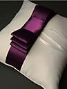 stil vintage pernă inel în satin cu panglici si cercevea (mai multe culori)