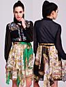ts barokke stijl bedrukt chiffon shirt jurk (meer kleuren)