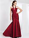 Mermaid / trompetă curele matura / perie tren taffeta rochie de balet cu draperie de ts couture®