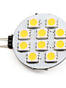 2700 lm G4 LED-spotlights 10 LED-pärlor SMD 5050 Varmvit 12 V