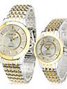 Bărbați pentru Doamne Pentru cupluri Ceas Elegant Quartz Aliaj Bandă Argint Auriu
