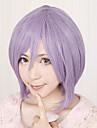 Peruci de Cosplay LuckyStar Hiiragi Tsukasa Violet Short Anime Peruci de Cosplay 32 CM Fibră Rezistentă la Căldură Feminin