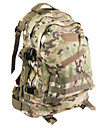 L Daypack Camping / Hiking Oxford Yellow Green Camouflage