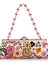 elegant bomull med multicolor handväska beading kväll / kopplingar (fler färger)