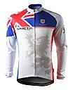 spakct-vinter stil 100% polyester cykling lång jersey med fleece sida