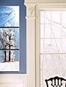 modern stil natursköna väggklocka i canvas 3st k0141