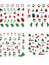 4PCS Noël 3D en plastique Appliques Twinkle Nail Art décoratif