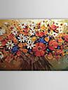 HANDMÅLAD Blommig/Botanisk Horisontell Duk Hang målad oljemålning Hem-dekoration En panel