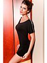 elegant scurt fermoar rochie cu maneci femei (lungime: 58cm bust :86-102 cm talie :58-79 hip :90-104cm)