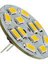 1.5w g4 led lumina reflectoarelor 12 smd 5730 130-150lm cald alb 2700k dc 12v