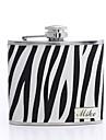 Personalizate cadouri Zebra-bandă 5 uncii Flask din piele PU