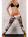 moda Ciorapi print floral pentru femei (talie :58-79cm, sold :90-104cm, lungime: 95cm)