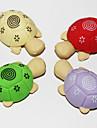 löstagbara sköldpadda formade suddgummi (2st slumpmässig färg)
