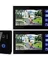 7 inch TFT ușă video de LCD cu taste tactile (1 camera cu 2 monitoare)