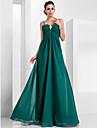 Linia -A Bretele Spagheti Lungime Podea Șifon Seară Formală Rochie cu Broșă Cristal de TS Couture®