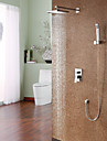 Shower Faucet - Contemporary Chrome Shower System Ceramic Valve
