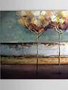 HANDMÅLAD Abstrakt Fyrkantig Duk Hang målad oljemålning Hem-dekoration En panel