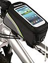 ROSWHEEL Sac de cadre de velo Sac de telephone portable 5.3 pouce Etanche Zip etanche Ecran tactile Cyclisme pour Iphone 8 / 7 / 6S / 6
