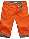 Verifică 100% bumbac Shorts pentru bărbați Beach