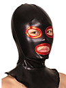 Mască Ninja Zentai Costume Cosplay Negru Peteci Mască Metalic strălucitor Unisex Halloween Crăciun