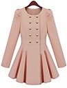 pinklady dulce dublu piept încreți leagăn teaca haină lungă