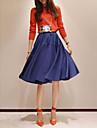 Femei Vintage plisată fusta A-line