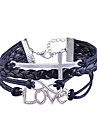 Handmade împletitură aliaj Cross Infinity Simbol Dragostea Farmecul brățară