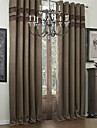 Two Panels Curtain Designer , Solid Polyester Material Curtains Drapes Home Decoration For Window