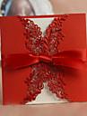 """pliat în formă de poartă Invitatii de nunta Invitații Stil Clasic Stil Floral Hârtie cărți de masă 6""""×6"""" (15*15cm) Funde"""