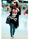 Skull femei Print Loose T-shirt
