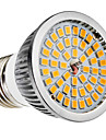 E27 6W 48x2835SMD 580-650LM 2700-3500K Warm White LED Bec spot (110-240V)