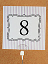 Card Paper Table Number Cards Poly Bag 10