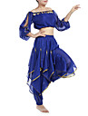 Belly Dance Outfits Women\'s Chiffon Beading Sequin Coin 22.44inch(57cm) Natural