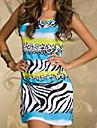 piatră zebra noutate rochie mini casual cu centura