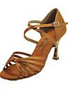 Snygg Kvinnors Satin Övre Med Golden Heel Latin Dance Shoes