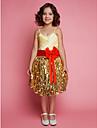 Rochie lungă rochie lungă rochie floare rochie - dantelă satin fără mâneci spaghete curele