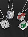 Smycken Inspirerad av Attack on Titan Eren Jager Animé Cosplay-tillbehör Legering Herr