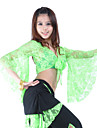 Belly Dance Tops Women\'s Training Lace 3/4 Length Sleeves Top