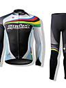 SPAKCT Långärmad Cykeltröja och tights Cykel Klädesset, Håller värmen, Snabb tork, Andningsfunktion