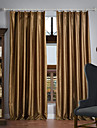 Blackout Curtains Drapes Solid Colored 100% Polyester Polyester Embossed