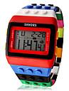 Pentru femei femei Ceas digital Piloane de Menținut Carnea Alarmă Calendar Cronograf Piloane de Menținut Carnea Prăjit Modă Lemn - Galben Rosu Doi ani Durată de Viaţă Baterie / LCD / Desay CR2025